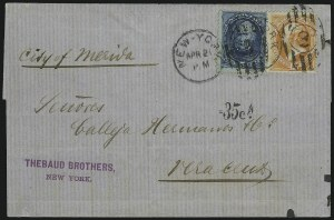 Sale Number 922, Lot Number 1254, Mexican Mails5c Blue, 15c Yellow Orange (163, 179), 5c Blue, 15c Yellow Orange (163, 179)