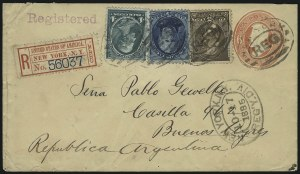 Sale Number 922, Lot Number 1259, Central and South American Mails4c Blue Green, 5c Blue, 5c Yellow Brown (185, 205, 211), 4c Blue Green, 5c Blue, 5c Yellow Brown (185, 205, 211)