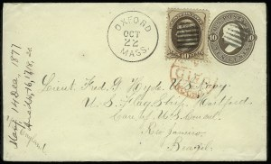 Sale Number 922, Lot Number 1261, Central and South American Mails10c Brown (161), 10c Brown (161)