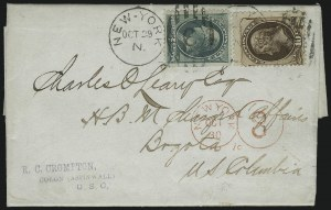 Sale Number 922, Lot Number 1263, Central and South American Mails3c Green, 10c Brown (158, 161), 3c Green, 10c Brown (158, 161)