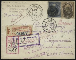 Sale Number 922, Lot Number 1265, Central and South American Mails5c Indigo, 10c Brown (209, 216), 5c Indigo, 10c Brown (209, 216)