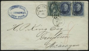 Sale Number 922, Lot Number 1266, Central and South American Mails3c Green, 5c Blue (158, 179), 3c Green, 5c Blue (158, 179)