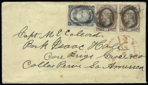 Sale Number 922, Lot Number 1270, Central and South American Mails10c Brown (150), 10c Brown (150)
