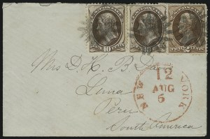 Sale Number 922, Lot Number 1273, Central and South American Mails2c Red Brown, 10c Brown (146, 150), 2c Red Brown, 10c Brown (146, 150)