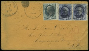 Sale Number 922, Lot Number 1277, Central and South American Mails3c Green, 5c Blue (184, 185), 3c Green, 5c Blue (184, 185)