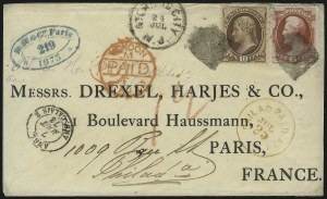 Sale Number 922, Lot Number 1303, Mail to France6c Carmine, 10c Brown (148, 150), 6c Carmine, 10c Brown (148, 150)