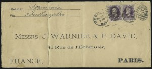 Sale Number 922, Lot Number 1311, Mail to France90c Purple (218), 90c Purple (218)