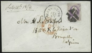Sale Number 922, Lot Number 1343, Mail to other European Destinations24c Purple (153), 24c Purple (153)
