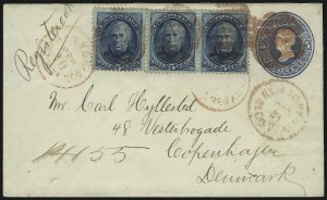 Sale Number 922, Lot Number 1373, Mail to Scandinavia5c Blue (185), 5c Blue (185)