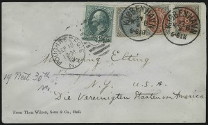 Sale Number 922, Lot Number 1374, Mail to Scandinavia3c Green (184), 3c Green (184)