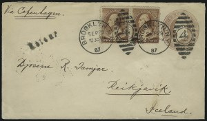 Sale Number 922, Lot Number 1377, Mail to Scandinavia2c Red Brown (210), 2c Red Brown (210)