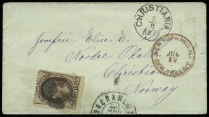 Sale Number 922, Lot Number 1379, Mail to Scandinavia10c Brown (150), 10c Brown (150)