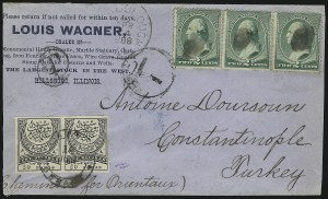 Sale Number 922, Lot Number 1394, Mail to and From Turkey2c Green (213), 2c Green (213)