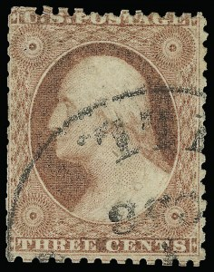 Sale Number 923, Lot Number 2057, 1851-56 Issue3c Dull Red, Chicago Perf 12-1/2 (11 var), 3c Dull Red, Chicago Perf 12-1/2 (11 var)