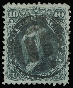 Sale Number 923, Lot Number 2175, 1861-66 Issue10c Yellow Green (68), 10c Yellow Green (68)