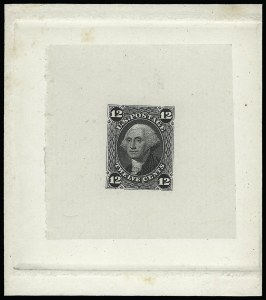 Sale Number 923, Lot Number 2178, 1861-66 Issue12c Gray Black, Die Essay on India (69-E4a), 12c Gray Black, Die Essay on India (69-E4a)