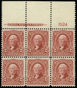 Sale Number 923, Lot Number 2638, 1902-08 Issues (Scott 300 thru 320)2c Carmine (301), 2c Carmine (301)