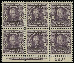 Sale Number 923, Lot Number 2642, 1902-08 Issues (Scott 300 thru 320)3c Bright Violet (302), 3c Bright Violet (302)