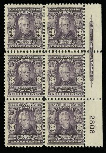 Sale Number 923, Lot Number 2643, 1902-08 Issues (Scott 300 thru 320)3c Bright Violet (302), 3c Bright Violet (302)