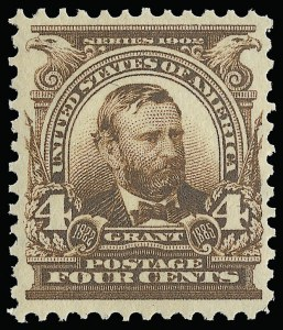 Sale Number 923, Lot Number 2645, 1902-08 Issues (Scott 300 thru 320)4c Brown (303), 4c Brown (303)