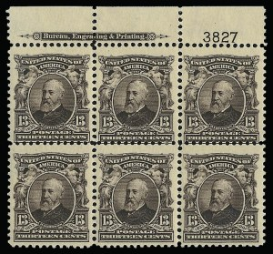 Sale Number 923, Lot Number 2653, 1902-08 Issues (Scott 300 thru 320)13c Purple Black (308), 13c Purple Black (308)