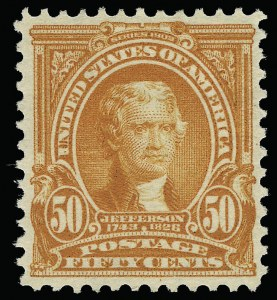 Sale Number 923, Lot Number 2658, 1902-08 Issues (Scott 300 thru 320)50c Orange (310), 50c Orange (310)