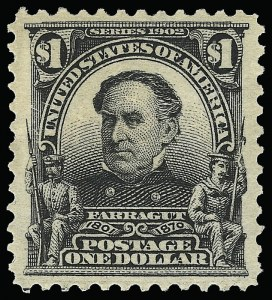 Sale Number 923, Lot Number 2663, 1902-08 Issues (Scott 300 thru 320)$1.00 Black (311), $1.00 Black (311)