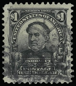 Sale Number 923, Lot Number 2665, 1902-08 Issues (Scott 300 thru 320)$1.00 Black (311), $1.00 Black (311)
