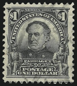Sale Number 923, Lot Number 2666, 1902-08 Issues (Scott 300 thru 320)$1.00 Black (311), $1.00 Black (311)