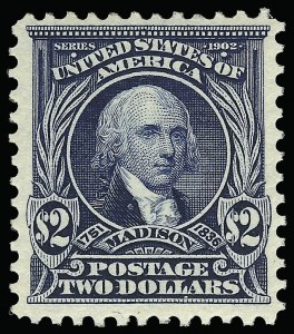 Sale Number 923, Lot Number 2667, 1902-08 Issues (Scott 300 thru 320)$2.00 Dark Blue (312), $2.00 Dark Blue (312)