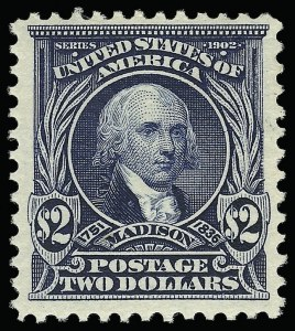Sale Number 923, Lot Number 2668, 1902-08 Issues (Scott 300 thru 320)$2.00 Dark Blue (312), $2.00 Dark Blue (312)