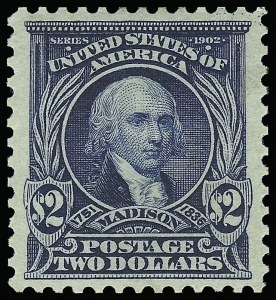 Sale Number 923, Lot Number 2671, 1902-08 Issues (Scott 300 thru 320)$2.00 Dark Blue (312), $2.00 Dark Blue (312)