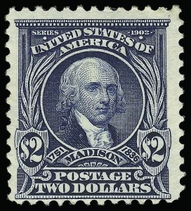 Sale Number 923, Lot Number 2672, 1902-08 Issues (Scott 300 thru 320)$2.00 Dark Blue (312), $2.00 Dark Blue (312)