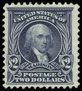 Sale Number 923, Lot Number 2673, 1902-08 Issues (Scott 300 thru 320)$2.00 Dark Blue (312), $2.00 Dark Blue (312)