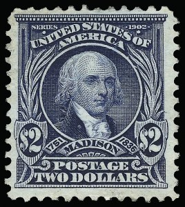 Sale Number 923, Lot Number 2674, 1902-08 Issues (Scott 300 thru 320)$2.00 Dark Blue (312), $2.00 Dark Blue (312)
