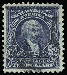 Sale Number 923, Lot Number 2675, 1902-08 Issues (Scott 300 thru 320)$2.00 Dark Blue (312), $2.00 Dark Blue (312)