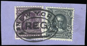 Sale Number 923, Lot Number 2678, 1902-08 Issues (Scott 300 thru 320)$5.00 Dark Green (313), $5.00 Dark Green (313)