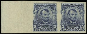 Sale Number 923, Lot Number 2681, 1902-08 Issues (Scott 300 thru 320)5c Blue, Imperforate (315), 5c Blue, Imperforate (315)