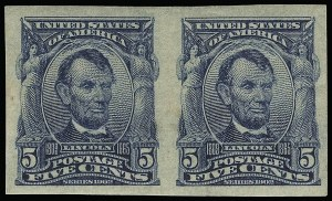 Sale Number 923, Lot Number 2682, 1902-08 Issues (Scott 300 thru 320)5c Blue, Imperforate (315), 5c Blue, Imperforate (315)