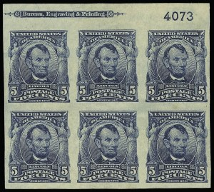Sale Number 923, Lot Number 2686, 1902-08 Issues (Scott 300 thru 320)5c Blue, Imperforate (315), 5c Blue, Imperforate (315)