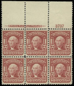 Sale Number 923, Lot Number 2687, 1902-08 Issues (Scott 300 thru 320)2c Carmine, Ty. I (319), 2c Carmine, Ty. I (319)