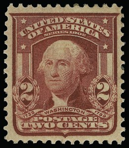 Sale Number 923, Lot Number 2688, 1902-08 Issues (Scott 300 thru 320)2c Lake, Ty. I (319a), 2c Lake, Ty. I (319a)