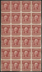 Sale Number 923, Lot Number 2691, 1902-08 Issues (Scott 300 thru 320)2c Carmine, Ty. I, Imperforate (320), 2c Carmine, Ty. I, Imperforate (320)
