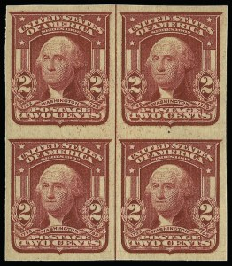 Sale Number 923, Lot Number 2692, 1902-08 Issues (Scott 300 thru 320)2c Lake, Ty. II, Imperforate (320a), 2c Lake, Ty. II, Imperforate (320a)