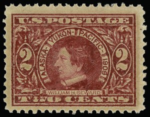 Sale Number 923, Lot Number 2776, 1908-12 Issues (Scott 367 to 396)2c Alaska-Yukon, Varnish Ink (370 var), 2c Alaska-Yukon, Varnish Ink (370 var)