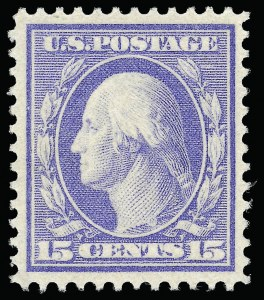 Sale Number 923, Lot Number 2785, 1908-12 Issues (Scott 367 to 396)15c Pale Ultramarine (382), 15c Pale Ultramarine (382)