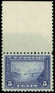 Sale Number 923, Lot Number 2816, 1913-15 Panama-Pacific Issue (Scott 397 thru 404)5c Panama-Pacific, Perf 10 (403), 5c Panama-Pacific, Perf 10 (403)