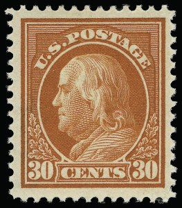 Sale Number 923, Lot Number 2840, 1912-23 Issues (Scott 405 to 423)30c Orange Red (420), 30c Orange Red (420)