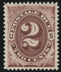 Sale Number 924, Lot Number 131, 1891 American Bank Note Co. Postage Due Issue2c Bright Claret (J23), 2c Bright Claret (J23)