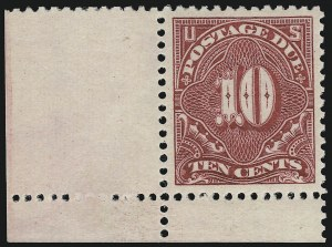 Sale Number 924, Lot Number 165, 1895-97 Watermarked Bureau Postage Due Issue10c Carmine (J42 var), 10c Carmine (J42 var)